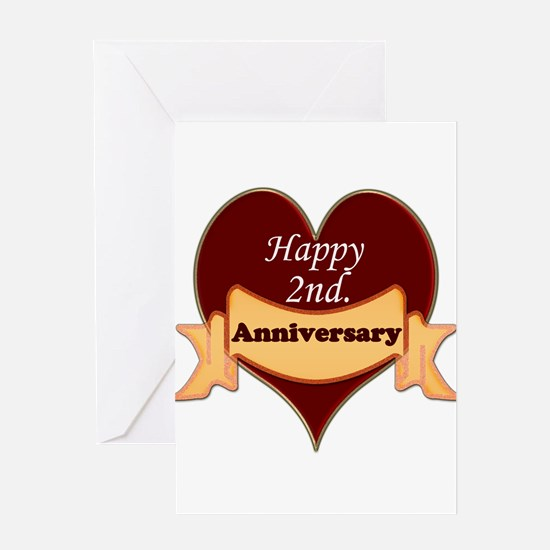 2nd wedding anniversary Greeting Card
