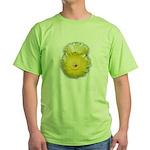 2 YELLOW BARREL CACTUS FLOWERS Green T-Shirt