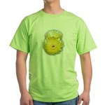 2 YELLOW BARREL CACTUS FLOWERS Green T-Shirt