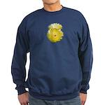 2 YELLOW BARREL CACTUS FLOWERS Sweatshirt (dark)