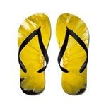 2 YELLOW BARREL CACTUS FLOWERS Flip Flops