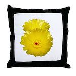 2 YELLOW BARREL CACTUS FLOWERS Throw Pillow