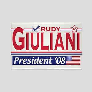 Rudy Giuliani 2008 Gear Rectangle Magnet