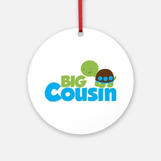 Boy Turtle Big Cousin Ornament (Round)