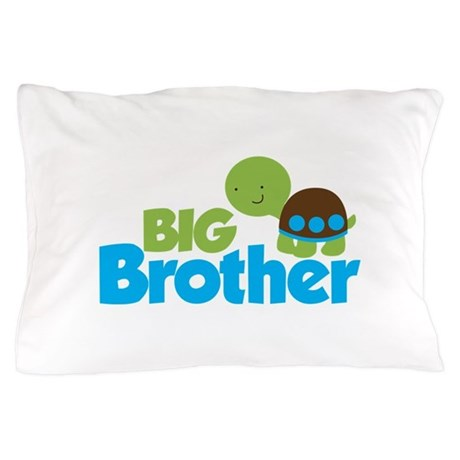 Boy Turtle Big Brother Pillow Case