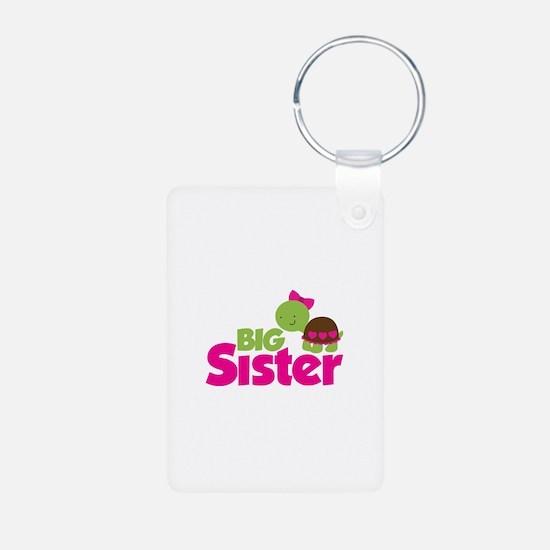 Girl Turtle Big Sister Keychains