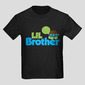 Boy Turtle Little Brother Kids Dark T-Shirt