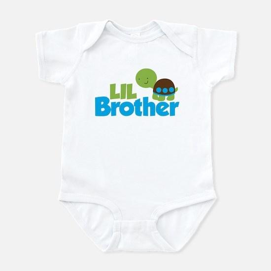 Boy Turtle Little Brother Infant Bodysuit