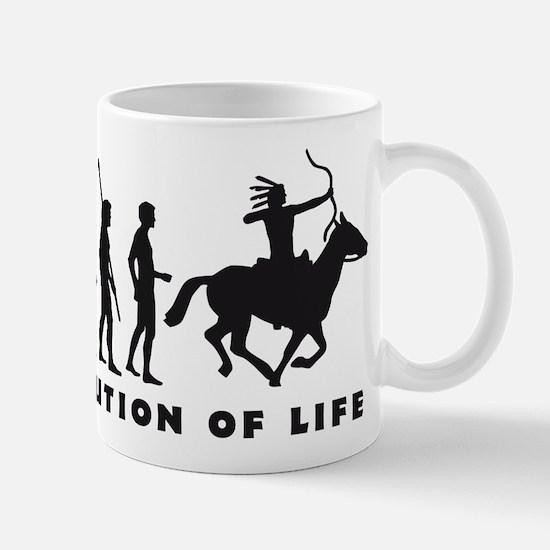 Evolution Indianer B.png Mug