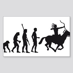 Evolution Indianer Sticker (Rectangle)