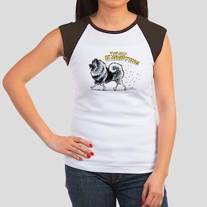 Keeshond Hairifying Women's Cap Sleeve T-Shirt