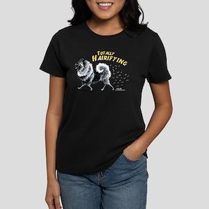 Keeshond Hairifying Women's Dark T-Shirt