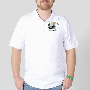 Keeshond Hairifying Golf Shirt