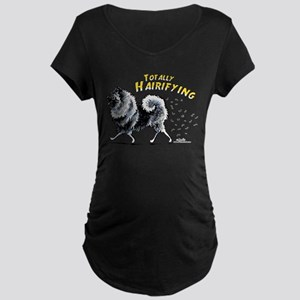 Keeshond Hairifying Maternity Dark T-Shirt