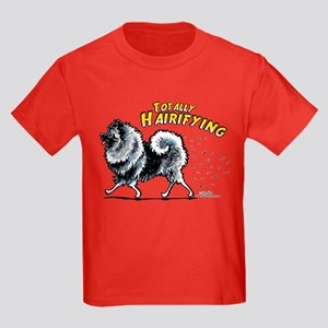 Keeshond Hairifying Kids Dark T-Shirt