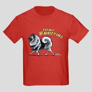 Keeshond Hairifying Kids Dark T-Shirt