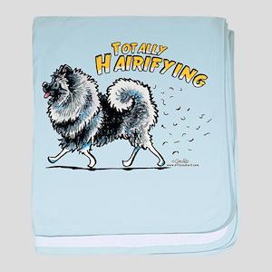 Keeshond Hairifying baby blanket