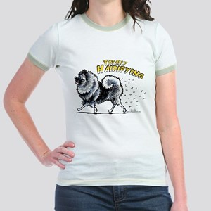 Keeshond Hairifying Jr. Ringer T-Shirt