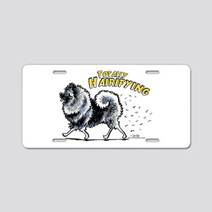 Keeshond Hairifying Aluminum License Plate