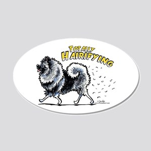 Keeshond Hairifying 20x12 Oval Wall Decal