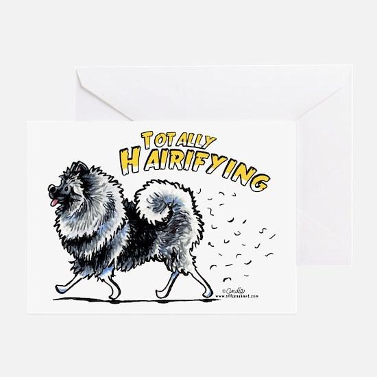 Keeshond Hairifying Greeting Card