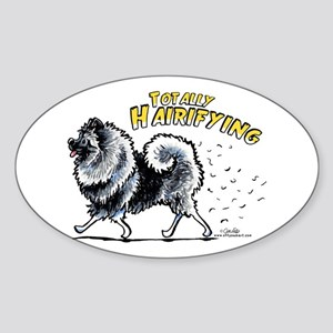 Keeshond Hairifying Sticker (Oval)