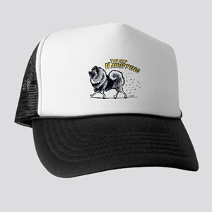 Keeshond Hairifying Trucker Hat