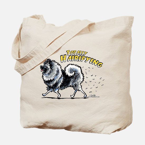 Keeshond Hairifying Tote Bag