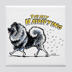 Keeshond Hairifying Tile Coaster