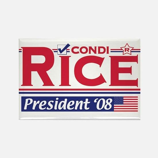 Condi Rice 2008 Gear Rectangle Magnet