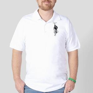 Clingy Keeshond Golf Shirt