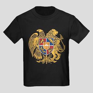 Armenia Coat Of Arms Kids Dark T-Shirt