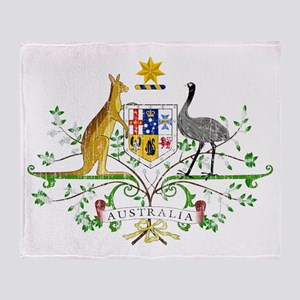 Australia Coat Of Arms Throw Blanket
