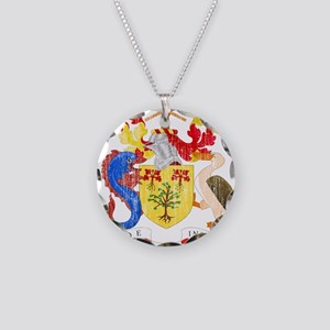 Barbados Coat Of Arms Necklace Circle Charm