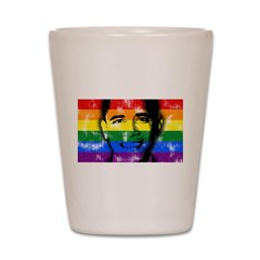 LGBT for Obama Shot Glass