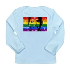 LGBT for Obama Long Sleeve Infant T-Shirt