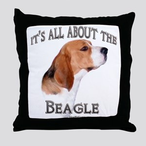 Beagle 7 Throw Pillow