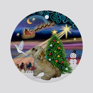 Xmas Magic Lhasa Apso Ornament (Round)