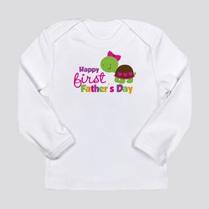 Girl turtle happy 1st fathers day Long Sleeve Infa