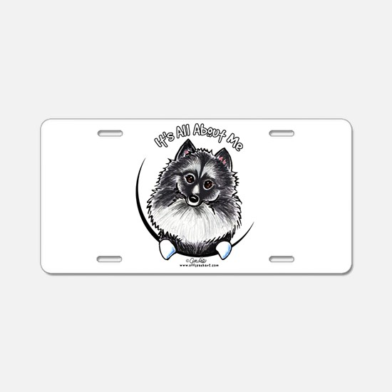 Keeshond IAAM Aluminum License Plate
