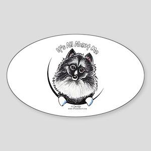 Keeshond IAAM Sticker (Oval)