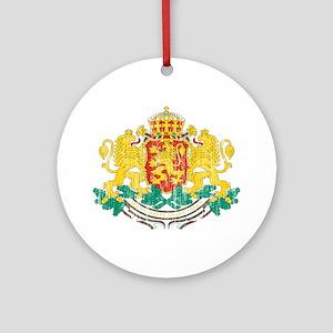 Bulgaria Coat Of Arms Ornament (Round)
