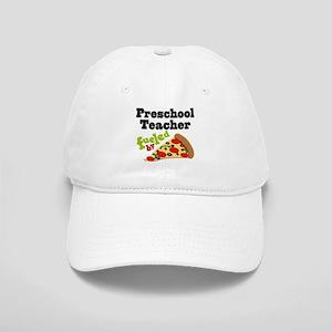Preschool Teacher Funny Pizza Cap