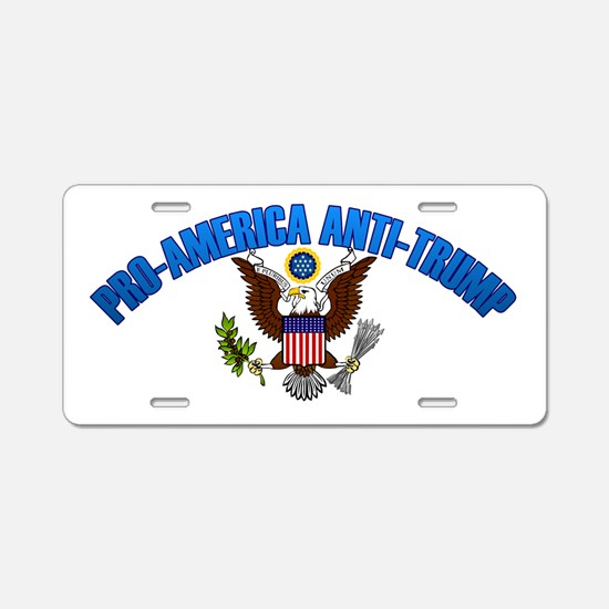 Pro-America, Anti-Trump Aluminum License Plate