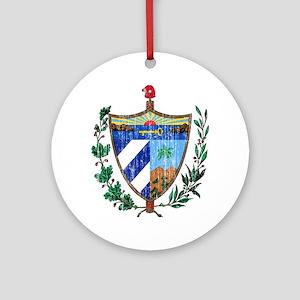 Cuba Coat Of Arms Ornament (Round)