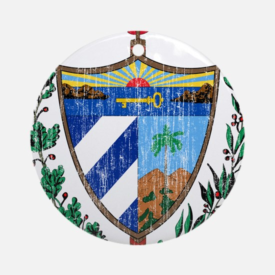 Cuba Coat Of Arms Ornament (Round)