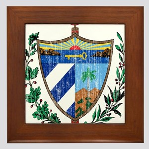 Cuba Coat Of Arms Framed Tile