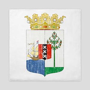 Curacao Coat Of Arms Queen Duvet