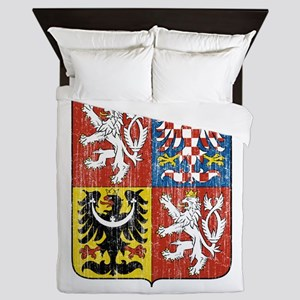 Czech Republic Coat Of Arms Queen Duvet