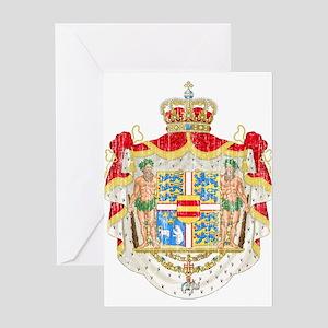 Royal Denmark Coat Of Arms Greeting Card